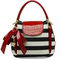 Fashion Bowknot Lovely Zebras Stripe Woman Handbag